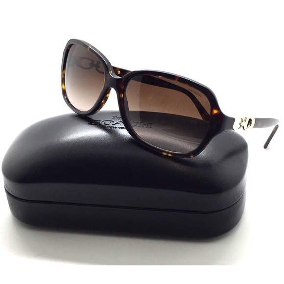 Coach Accessories - Coach Tortoise Rectangle Frame Sunglasses & Case